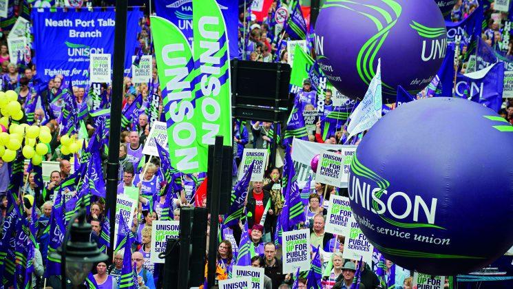 UNISON street demonstration