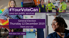 Images of public services workers - vote on December 12!